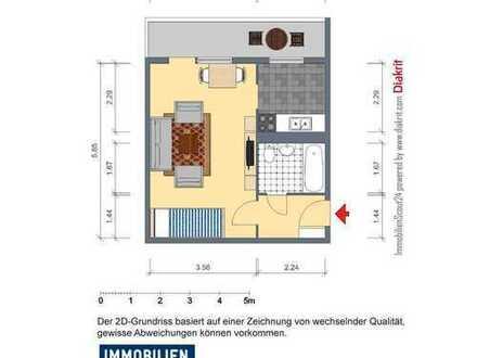 1-Raum-Appartement mit separater Küche - GÜNSTIG !!!