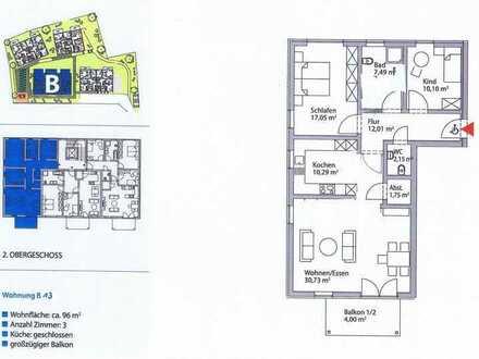 Erstbezug mit Einbauküche und Balkon: stilvolle 3,5-Zimmer-Wohnung in Waldenbuch