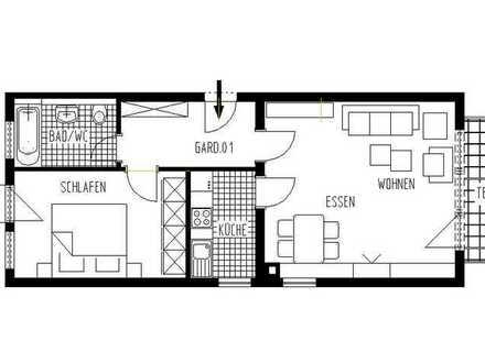 Ruhige 2,5-Zimmer-Wohnung mit Terrasse, Garten und Einbauküche