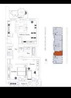 738 €, 82 m², 3 Zimmer