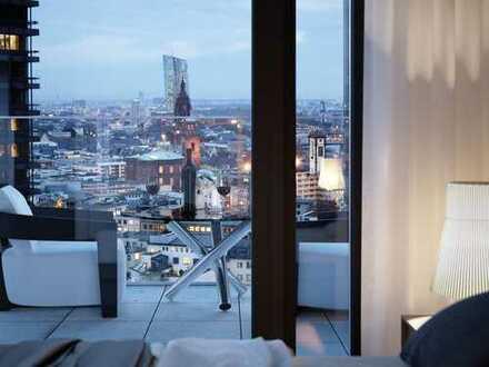 Style trifft Leben: 3-Zimmer-Wohnung mit Terrasse/Einbauküche im OMNITURM