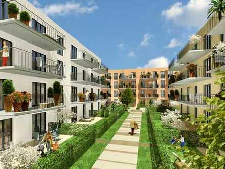 Neubau Erstbezug, Großzügige 2 Zimmerwohnung mit Terrasse und Gartenanteil