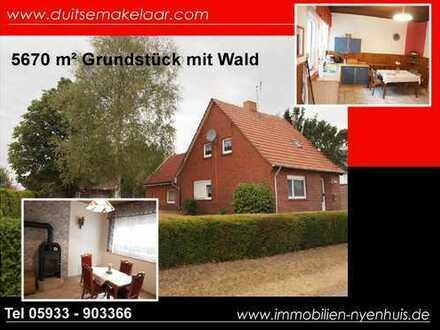 Provisionsfrei - Älteres Einfamilienhaus mit riesigem Grundstück - Doppelgarage - Wald