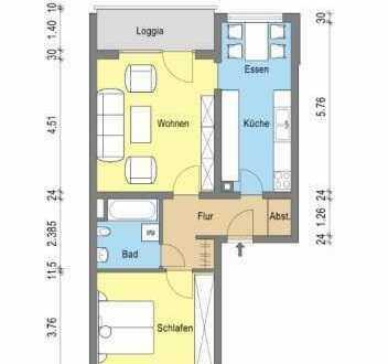 Geräumige Wohnung mit zwei Zimmern in Eisenberg/Pfalz