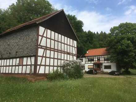 Am Ortsrand gelegener Hof mit 2 Gebäuden und Neubaumöglichkeit - am Rande des Burgwaldes!