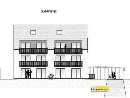 Neubau (6): 4-Zimmer-Studio-Wohnung mit Balkon in modernem 6-Familien-Haus