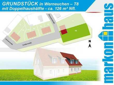 Werneuchen - Grundstück T8 bebaubar mit einer Doppelhaushälfte ca. 126 m² Nfl.