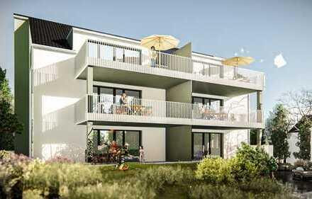 Letzte 4 Zi-EG-Wohnung mit großer Terrasse und Gartenanteil vor Baubeginn