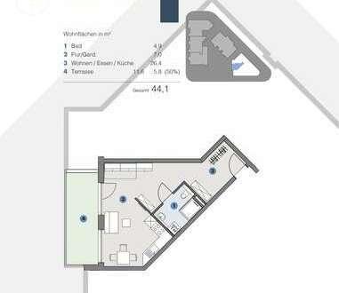 EG; Lichtdurchflutete Single-Wohnung - T5 Wohnareal - fortschrittlich, nachhaltig, innovativ
