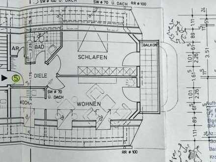 Preiswerte, gepflegte 2-Zimmer-Dachgeschosswohnung mit Balkon in Bad Neuenahr-Ahrweiler