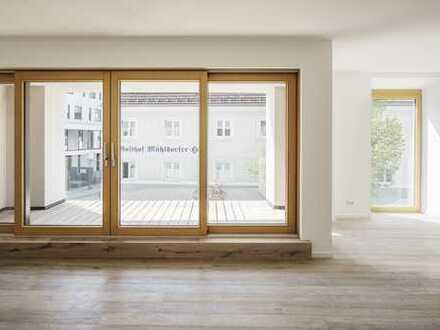 Einzigartige Aussichten in der Wohnung mit Platzblick