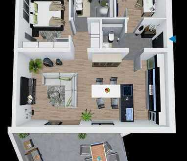Moderne 3 Zimmer Wohnung mit Süd-Ost Balkon