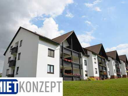 Langenbogen: Helle, komfortable DG-3-Zimmer-Wohnung mit großer Loggia