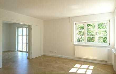 Elegante 4-Zi-Wohnung mit Garten, ruhige Villenlage, Nähe Klinikum