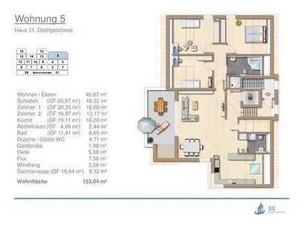 großzügige Neubau-Penthouse-Wohnung mit sonniger Dachterrasse in Erdmannhausen