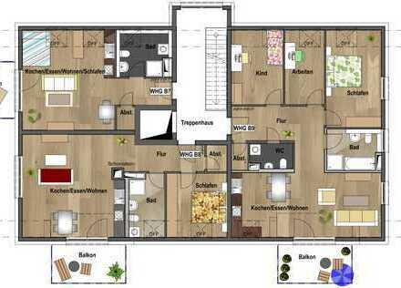 1.Dachgeschoss - Wohnung B08