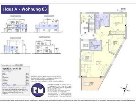 Neubau - 86m² OG-Eigentumswohnung mit Südbalkon (03)