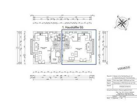Neubau Doppelhaushälfte unter Reet in Alkersum