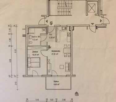 Exklusive 2-Zimmer-Wohnung mit Balkon und EBK in Heidelberg
