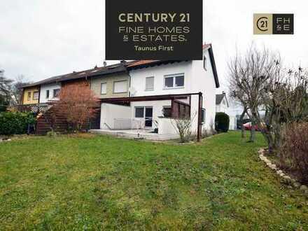 Attraktives Reihenendhaus für die große Familie, 128 m² Wohnfläche, PKW-Stellplatz, Okriftel