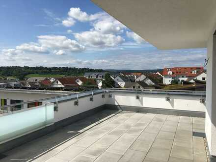 Moderne Penthouse-Wohnung mit Aussicht und sehr großzügiger Dachterasse