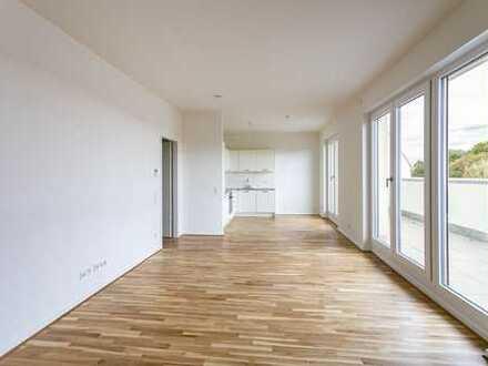 Erstbezug am Waldplatz im Dach: große Süd-West-Terrasse | großzügiger Wohnbereich |1.Monat mietfrei