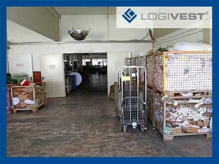 Logistikfläche mit Hochreallager