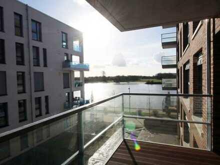 Neubau: Einzigartige 3-Zimmer-Wohnung mit zwei Balkonen und Weserblick in der Überseestadt