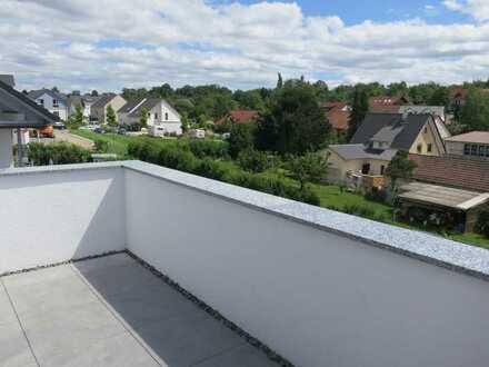 Erstbezug! - Helle, ruhige 4,5-Zimmer-Neubauwohnung mit EBK, großem Balkon und separatem Bürobereich
