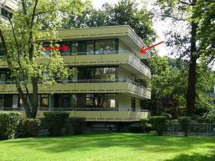 Helle 4-Zimmer-Eigentumswohnung mit großem Balkon u. TG in ruhiger Lage *provisionsfrei*