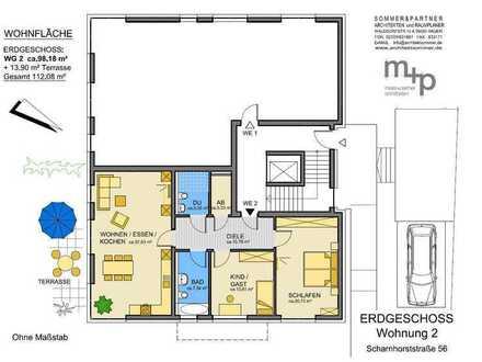 Ihr neues Zuhause im Klosterviertel - Erdgeschosswohnung zum Erstbezug in der Scharnhorststr. 56