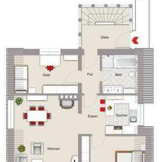 Modernisierte 3-Zimmer-DG-Wohnung mit Einbauküche in Baesweiler