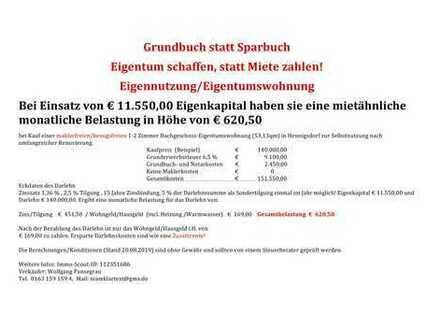 Attraktiv.Dachgeschoss,1-2 Zimmer, bezugs-maklerfrei,Bieterverfahren,letztes Gebot 137.000€.