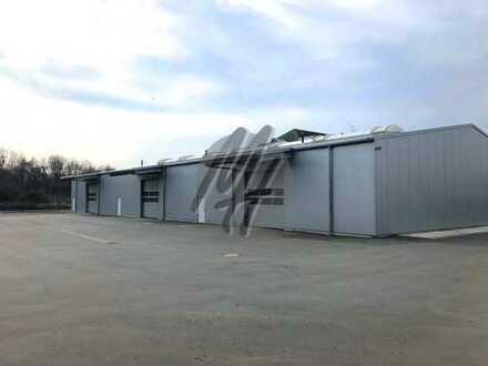 SOFORT VERFÜGBAR ✓ NÄHE BAB ✓ Halle (1.250 m²) & Freilager (6.500 m²) zu vermieten