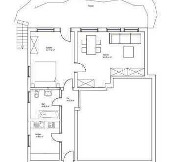 Schöne helle 2-Zimmer-Wohnung mit Terasse in Rot an der Rot