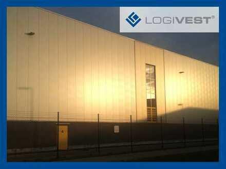 Logistikgebäude mit einem Hochregallager