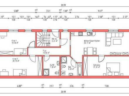 Erstbezug: stilvolle 4,5-Zimmer-EG-Wohnung mit Terrasse in Rheinhausen