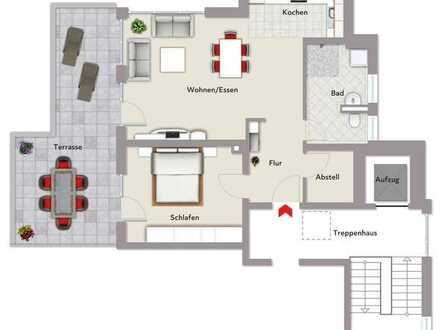 2,5 Zimmer Penthousewohnung im Neubau