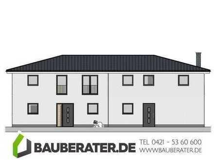 Leben am Wasser in Berne. Doppelhaus Neubau