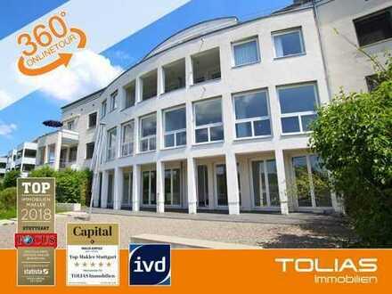 Terrassen-Liebling - Moderne und sehr helle 4,5-Zimmer-Maisonettewohnung mit 2 Sonnen-Terrassen