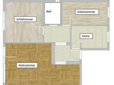 Modernisierte 3-Zimmer-EG-Wohnung mit großer Terrasse in Küssaberg