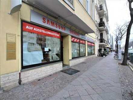 Charlottenburg: Kantstraße: Einzelhandels-/Gastrofläche nahe Savignyplatz und Zoo, ca. 173 m²