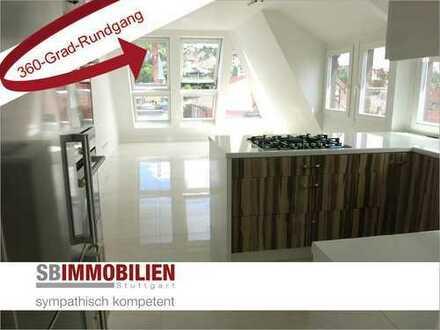 Für Individualisten! Exkl. 3-Zi-Wohn. in S-West: EBK, zwei Balkone, Aufzug und herrliche Aussichten!