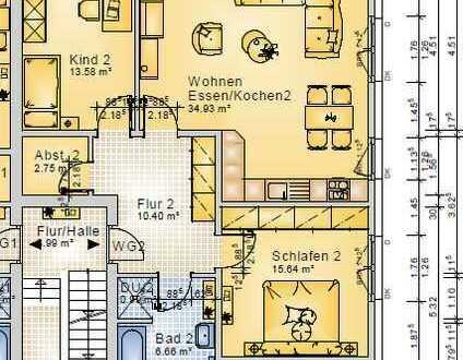Erstbezug: freundliche 3-Zimmer-Wohnung mit Terrasse in Sickte