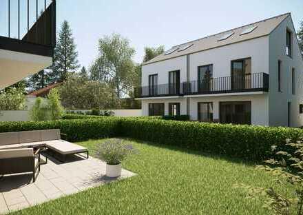 Neubau von ökologischen und modernen Doppelhaushälften