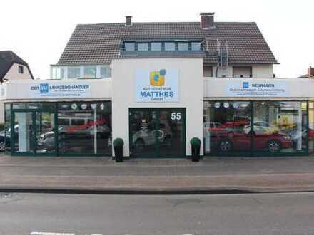 Verkäufsgebäude Refrath mit großer Fahrzeugabstellfläche!