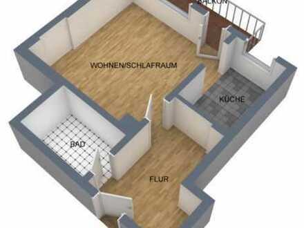 Gut geschnittenes Appartement mit Balkon in ruhiger Lage - zum Selbstbezug