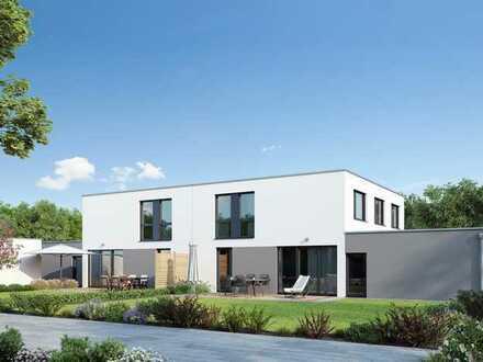 Moderne Doppelhaushälfte mit klugem Grundriss (KfW-Effizienzhaus 55)