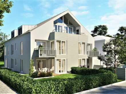 Neubau einer schicken 1-Zimmer-Gartenwohnung mit tollen Souterrainflächen