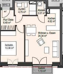 moderne Neubauwohnung in zentraler Wohnlage